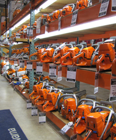 A Full Display of Professional Chain Saws